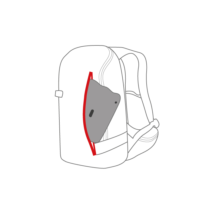Quick-access front panel pocket