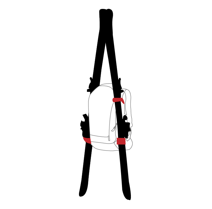A-Frame ski carrying system