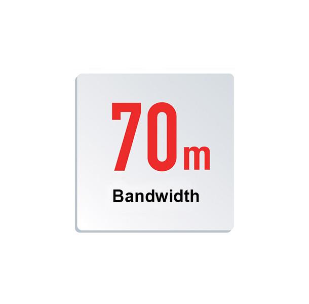 70 m search bandwidth